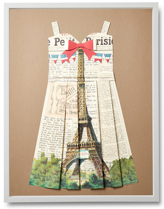 Folded  Paper Dress: Eiffel Tower