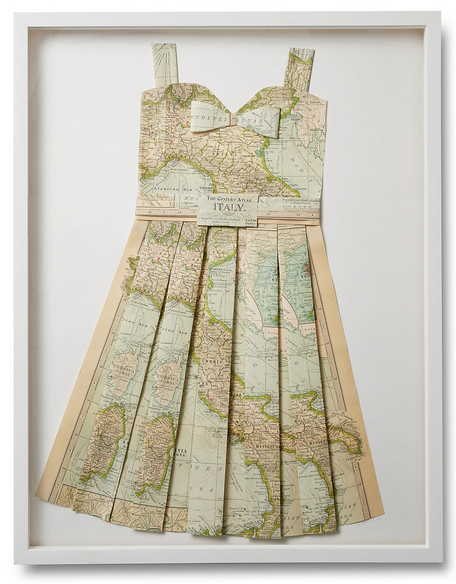Folded Paper Map Dress: Italy