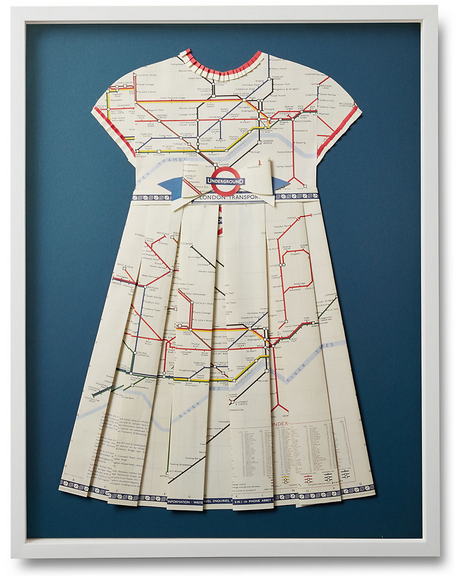 Folded Paper Map  Dress:  London Underground