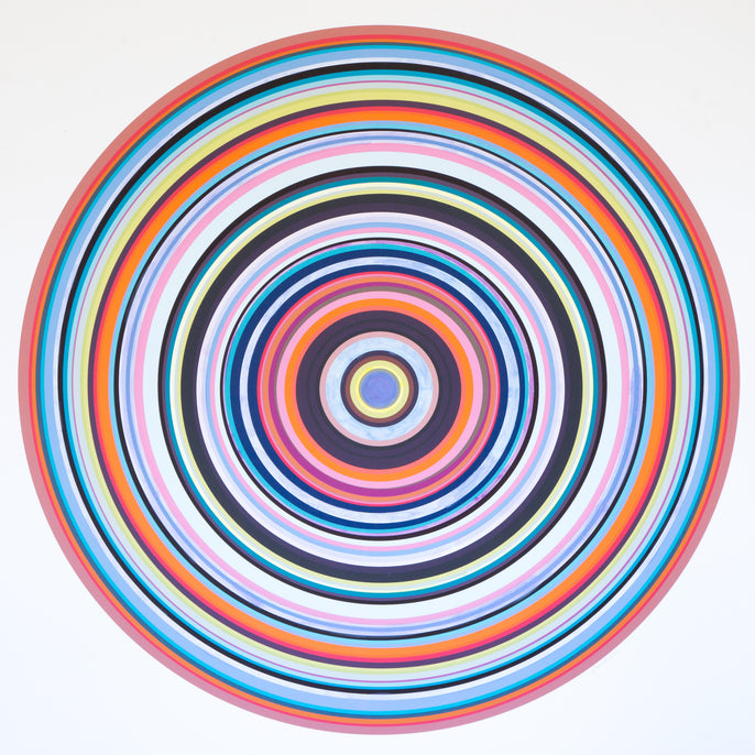 Multi Color Concentric Circles: Periwinkle