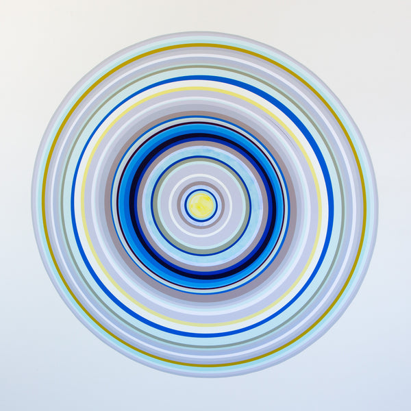 3. Multi Color Concentric Circles: Turquoise and Blue