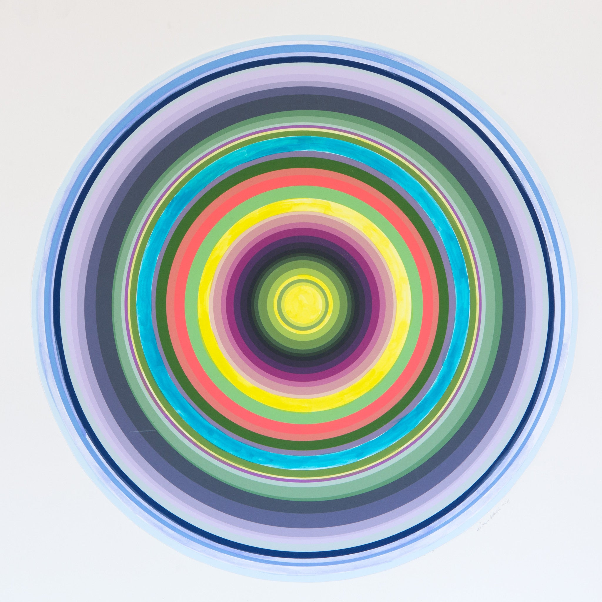 Multi Colored Concentric Circles