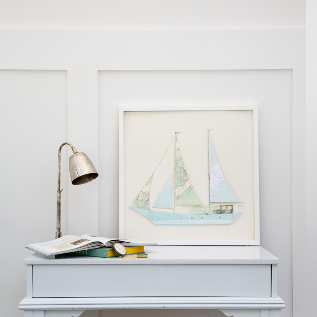 Folded Paper Boat: Nantucket Maps
