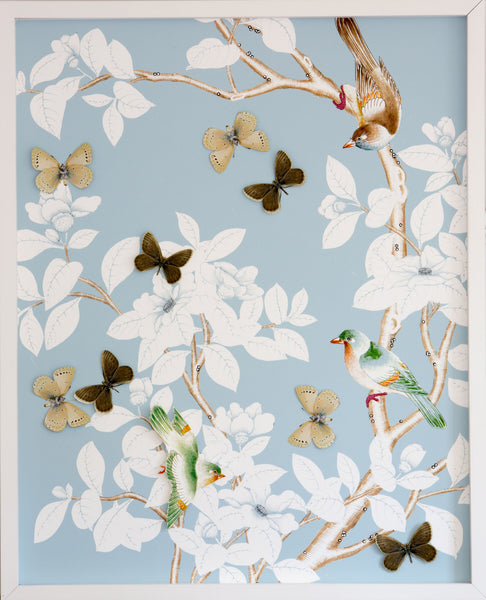 Chinoiserie Collage: Robin Egg Blue
