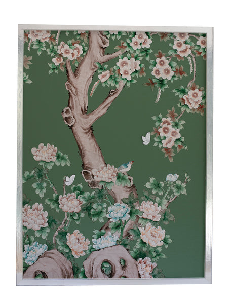 3 Chinoiserie Collage: Green
