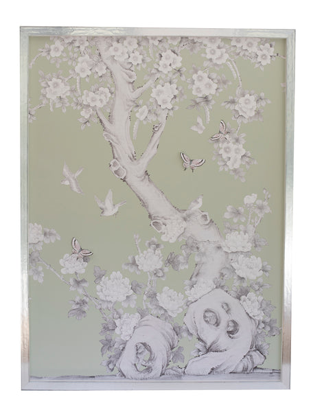 2 Chinoiserie Collage: Pale Green