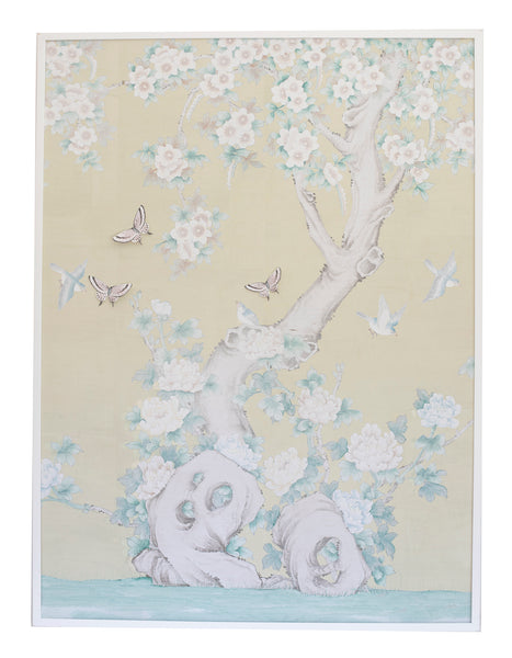 Chinoiserie Collage: Pale Yellow