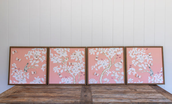 Chinoiserie Collage: Four Panels