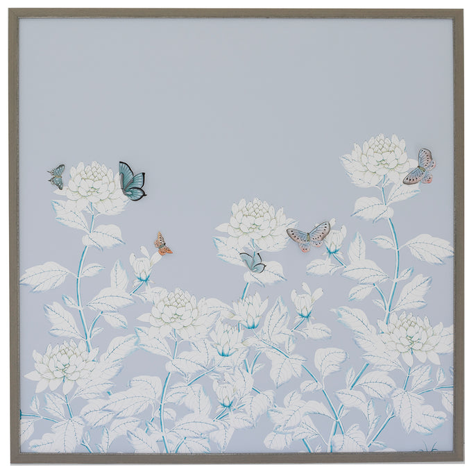 Chrysanthemum Chinoiserie, pale blue
