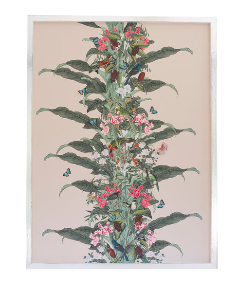 4 Chinoiserie Collage, blush