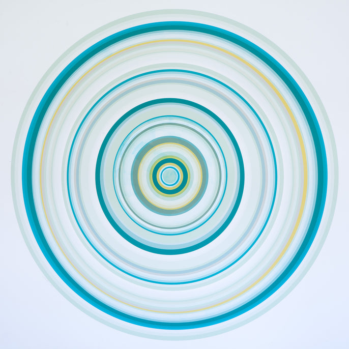 Multi Color Concentric Circles: Turquoise