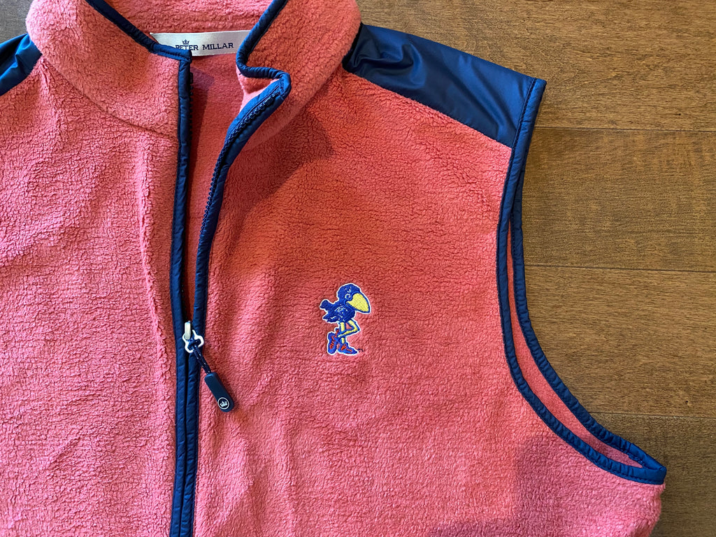 KU Seaside Fleece Vest - 1912 Jayhawk - Weaver's