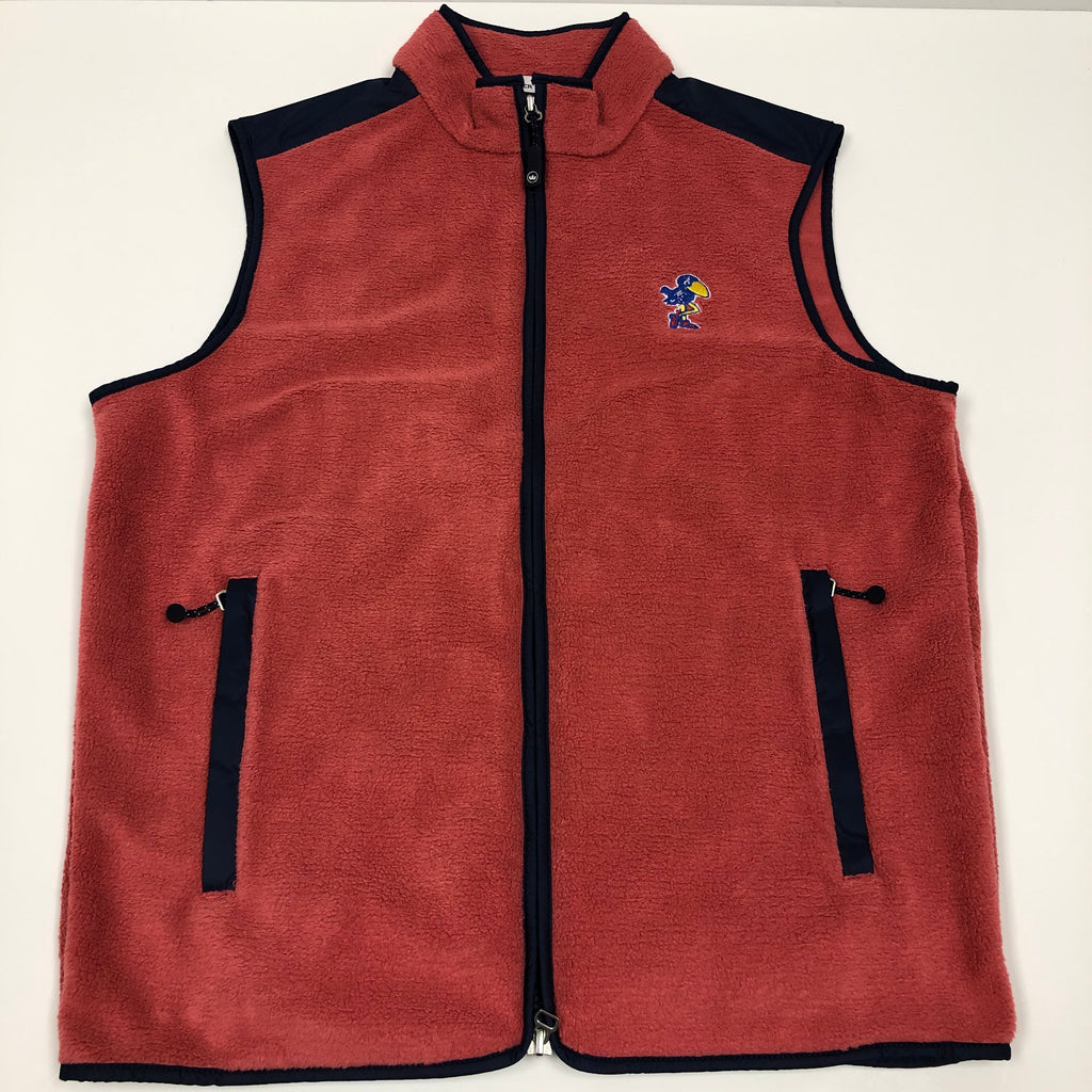 KU 1912 Jayhawk Seaside Fleece Vest - Weaver's