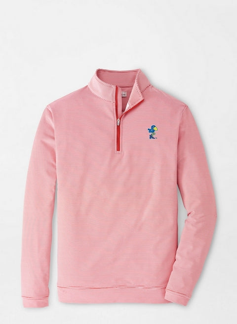 KU 1912 Jayhawk Mini-Stripe Quarter-Zip Pullover