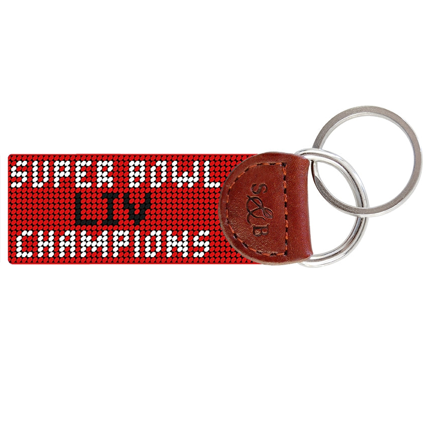 Kansas City Chiefs Super Bowl LIV Needlepoint Key Fob - Weaver's