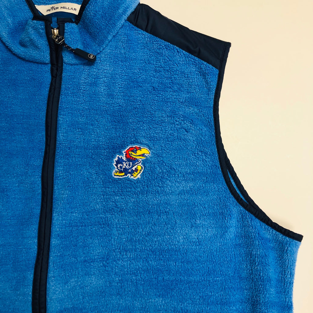 KU Jayhawk Seaside Fleece Zip Vest - Weaver's