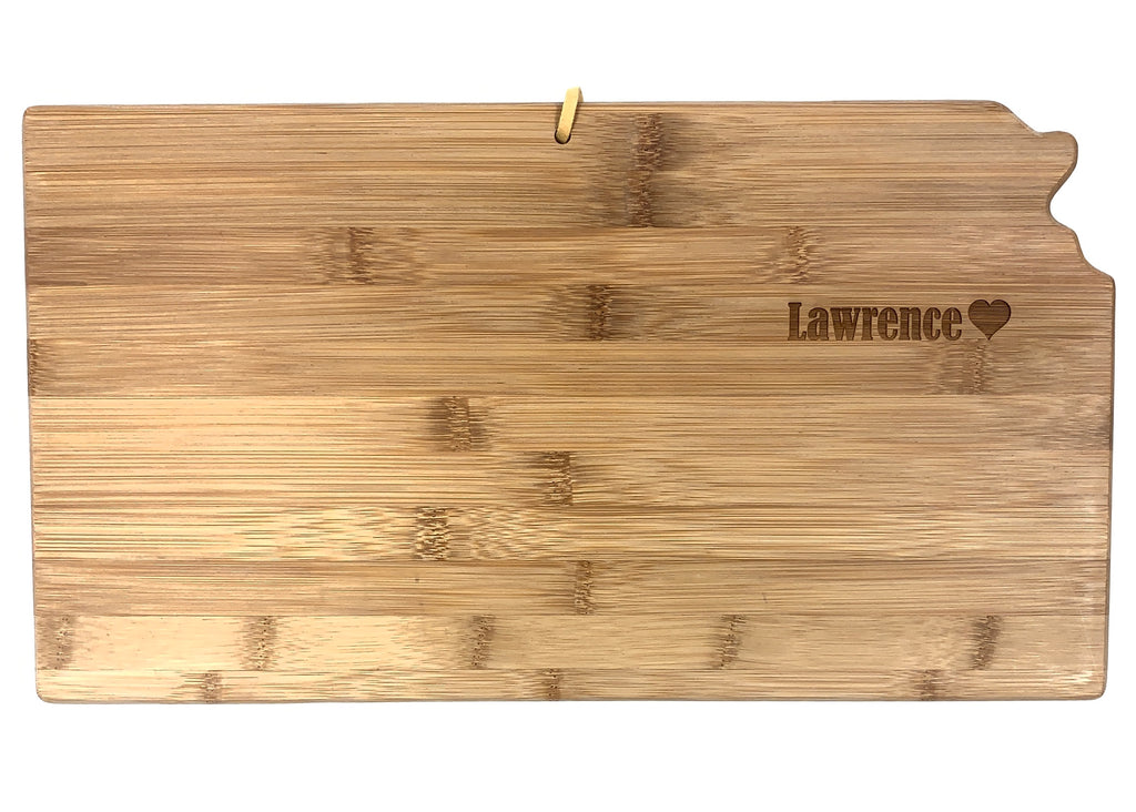 Totally Bamboo Kansas State Shaped Bamboo Serving & Cutting Board - Weaver's