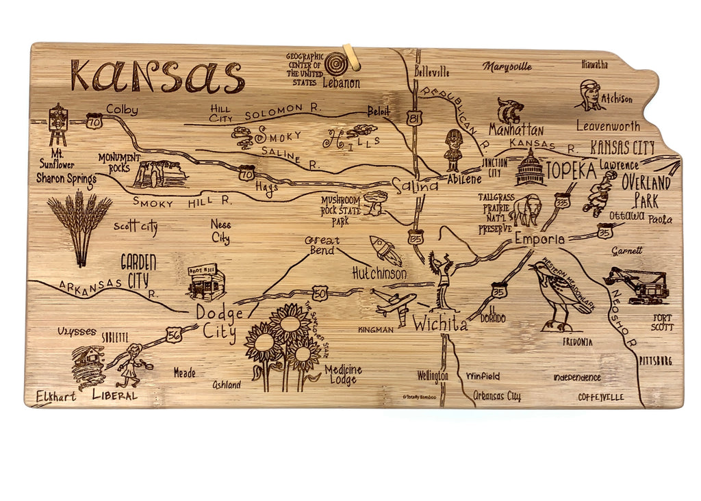 Totally Bamboo Kansas State Destination Bamboo Serving and Cutting Board - Weaver's