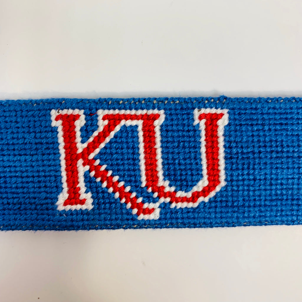 KU Needlepoint Belt