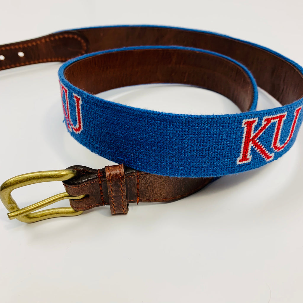 KU Needlepoint Belt - Weaver's
