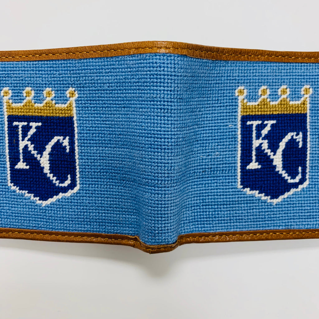 KC Royals Needlepoint Bi-Fold Wallet
