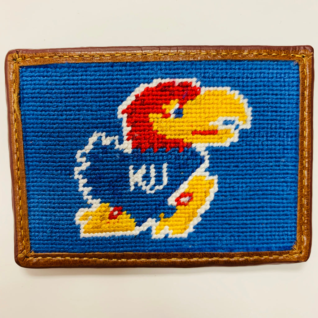 KU Jayhawk Needlepoint Card Wallet