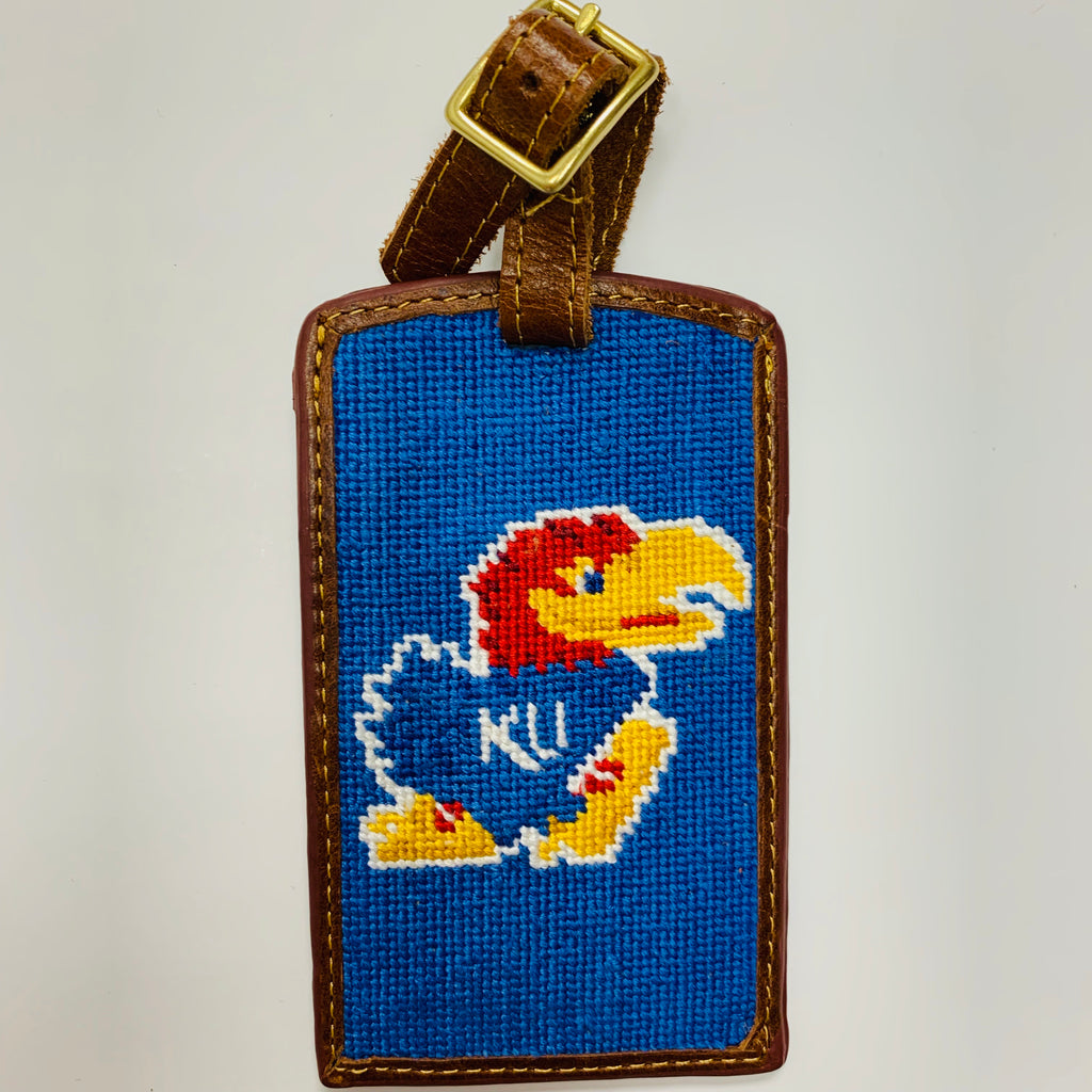 KU Jayhawk Needlepoint Luggage Tag - Weaver's