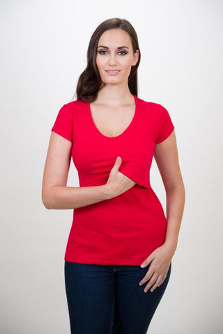 Mamawear Cotton nursing V-neck top