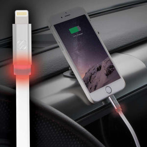 Scosche FlatOut™ LED Cable de Carga y Sincronización Lightning de 180cm