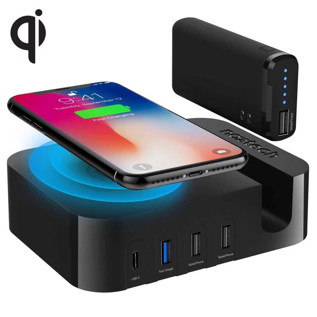 Naztech Power Station Wireless + Multi Usb + Portable Battery