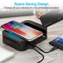 Cargar imagen en el visor de la galería, Naztech Power Station Wireless + Multi Usb + Portable Battery