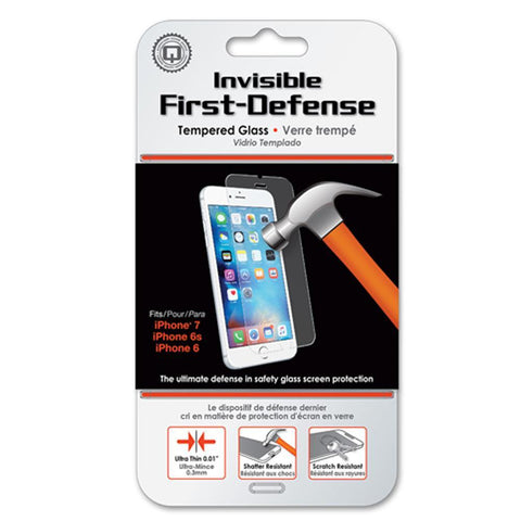 Qmadix Invisible First-Defense Apple iPhone 8, iPhone 7, iPhone 6s/6 Protector de Pantalla Cristal Templado