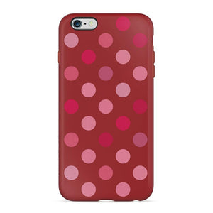 RhinoShield Protector Retro Dots Red iPhone 6/6s