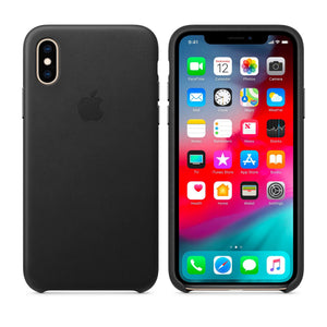 APPLE LEATHER CASE IPHONE XS BLACK