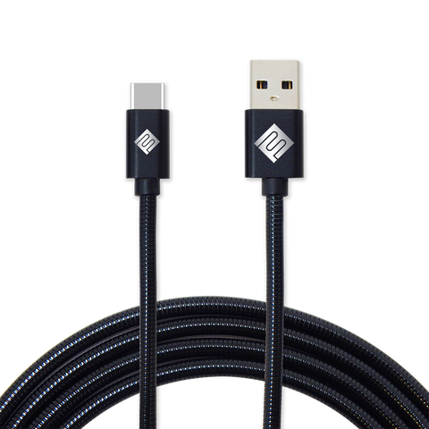 Qmadix Full Metal Jacket Cable de Carga y Sincronización Micro USB - C