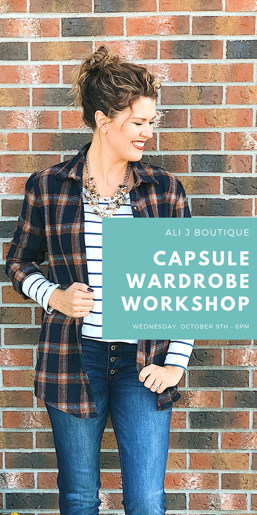 Ali J Capsule Wardrobe Workshop!