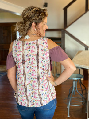 Shoulder Flutter Top