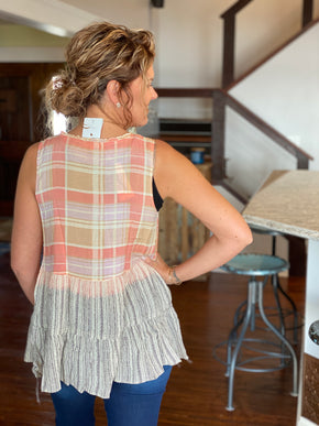 Coral Tiered Tank