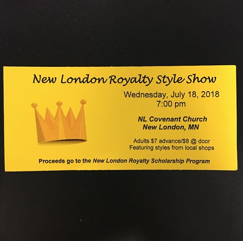 New London Royalty Style Show Ticket