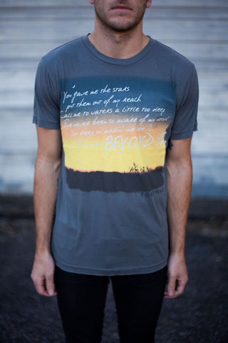 SALE 20% OFF - Beyond Me - Charcoal Tee