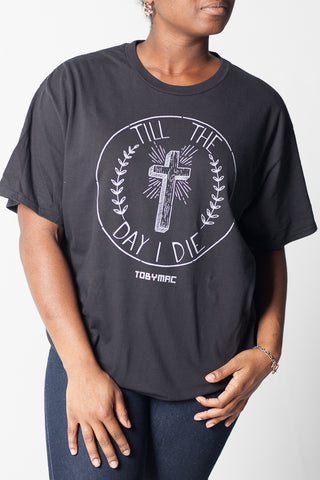 Black Till The Day I Die Circle Cross Tee
