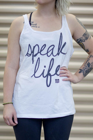 White Speak Life Tank