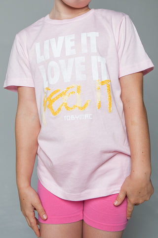 Feel It Pink Tee - YOUTH