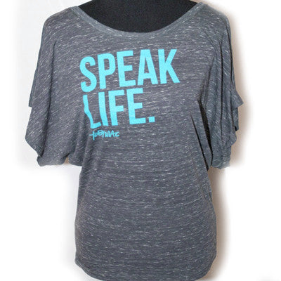 Marble Charcoal Speak Life Dolman