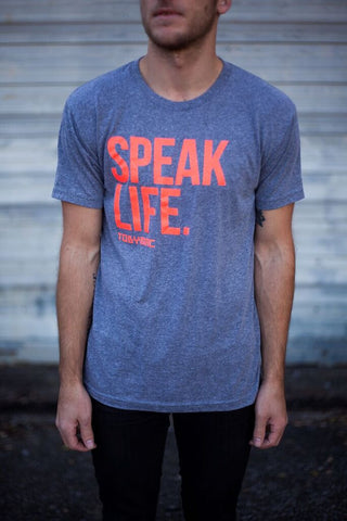 Coral Orange Speak Life Tee