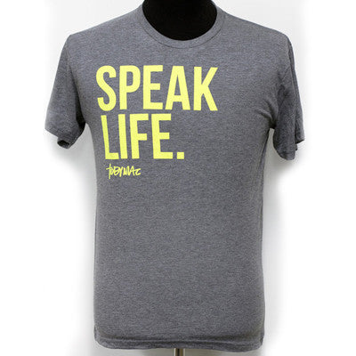 Yellow Speak Life Tee