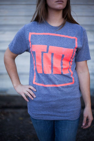 TM Coral Logo on Gray Tee