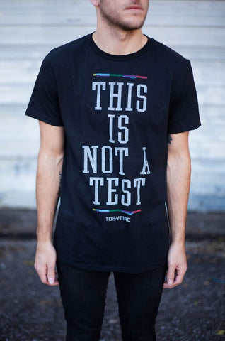 This Is Not A Test Block Tee