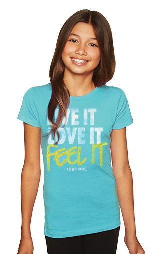 Youth Feet It Tee -TEAL