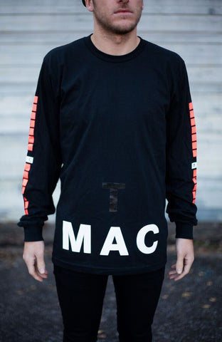 SALE - TMAC Black Long Sleeve Tee
